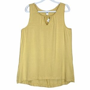 Old Navy Luxe Striped High-Low Hem Tank Top